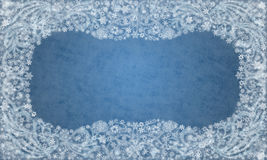 Decorative Frosty Pattern Framing stock images