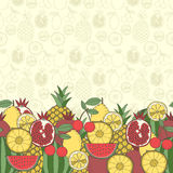 Decorative fruit background with place for text Stock Photo