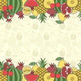 Decorative fruit background with place for text Royalty Free Stock Photography