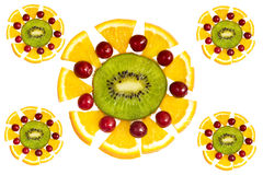 Decorative fruit elements Royalty Free Stock Photo