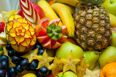 Decorative fruit sculpture Stock Photo