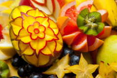 Decorative fruit sculpture Royalty Free Stock Image