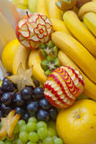 Decorative fruit sculpture Stock Photos