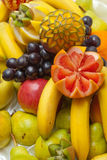 Decorative fruit sculpture Royalty Free Stock Photo