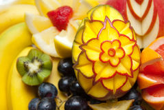 Decorative fruit sculpture. Amazing decorative fruit sculpture made in arad city for weddings Royalty Free Stock Images