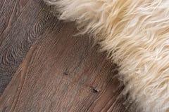 Decorative fur carpet Royalty Free Stock Photos