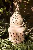 Decorative garden lantern Royalty Free Stock Images