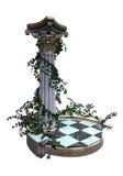 Decorative garden pedestal stock illustration