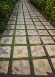Decorative garden walkway Royalty Free Stock Photo