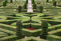 decorative gardens at castles in France Stock Image