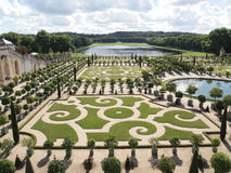 Decorative gardens at Versailles in France Stock Photo