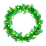 Decorative garland Christmas lights wreath ornament decoration Royalty Free Stock Images