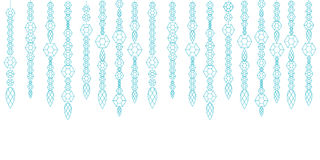 Decorative garland from gems, crystals and deamonds, gems on a string Royalty Free Stock Image