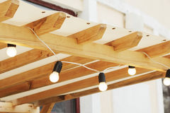Decorative garland lights Stock Photography