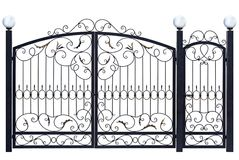 Decorative gate and door. Royalty Free Stock Image