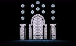 Decorative gates inside the mosque Hassan II in Casablanca, Morocco Stock Photo