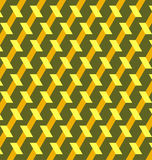 Decorative geometric background of yellow, orange and green shades Stock Photo