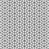 Decorative Geometric Black & White Pattern Stock Photography