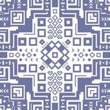 Decorative geometric ethnic pattern ornament vector illustration Royalty Free Stock Photos