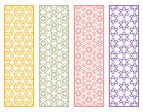 Decorative geometric line borders with repeating texture Royalty Free Stock Images