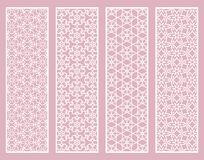Decorative geometric line borders with repeating texture Royalty Free Stock Photography