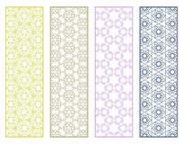 Decorative geometric line borders with repeating texture Royalty Free Stock Image