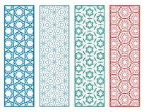 Decorative geometric line borders with repeating texture Stock Photos