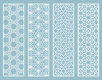 Decorative geometric line borders with repeating texture Stock Photography