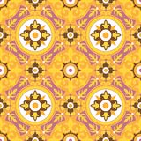 Decorative Geometric Seamless Pattern Stock Photography