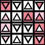 Decorative geometric shapes tiling. Monochrome irregular pattern.  Abstract  background. Artistic decorative ornament Stock Photography