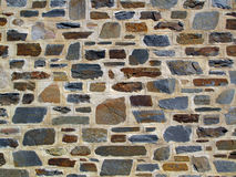 Decorative Geometric Stone Wall. A decorative rich textured large area tailored stone wall with etched geometric grout lines . Photo taken in Adelaide Stock Images