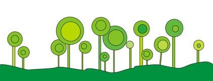 Decorative geometric trees Stock Images