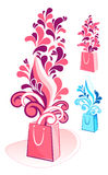 Decorative gift bag vector Royalty Free Stock Image