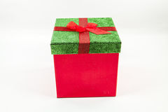 Decorative Gift Box. A decorative holiday gift box against a white background Stock Photos