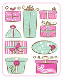 Decorative Gift Boxes Royalty Free Stock Images