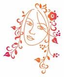 Decorative girl Stock Photo