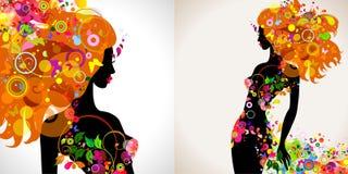 Decorative girls Stock Image