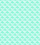 Decorative  geometric whatercolor effect seamless repeat pattern in bright aqua green tones