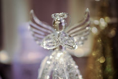 Decorative Glass angel Christmas decoration. Close up royalty free stock photography