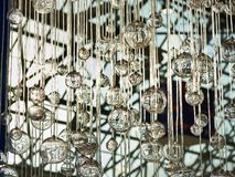 Decorative glass balls on ropes Stock Photo
