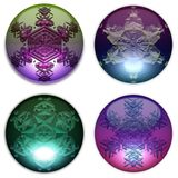 Decorative glass balls set Royalty Free Stock Photos