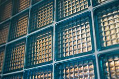 Decorative Glass Blocks. In blue colors Stock Photo