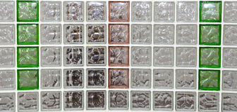 Decorative Glass Blocks in different colors Stock Photography