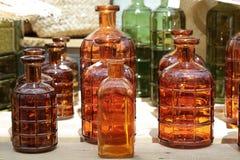 Decorative glass bottles Royalty Free Stock Image