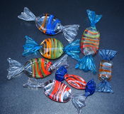Decorative Glass Candies Royalty Free Stock Image