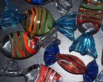 Decorative Glass Candies Stock Photo