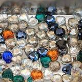 Heart Gem Pendants. Decorative Glass Diamonds Artificial Bijoux Pendants Stock Photography