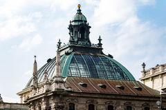 Decorative glass dome of stately older building Royalty Free Stock Photo