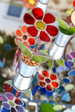 Decorative glass flowers Royalty Free Stock Image