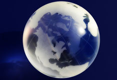 Decorative glass globe. Illustration of decorative blue and white glass globe Royalty Free Stock Photos